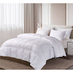 Blue Ridge 1000-Thread Count Cotton Down Alternative Comforter King White