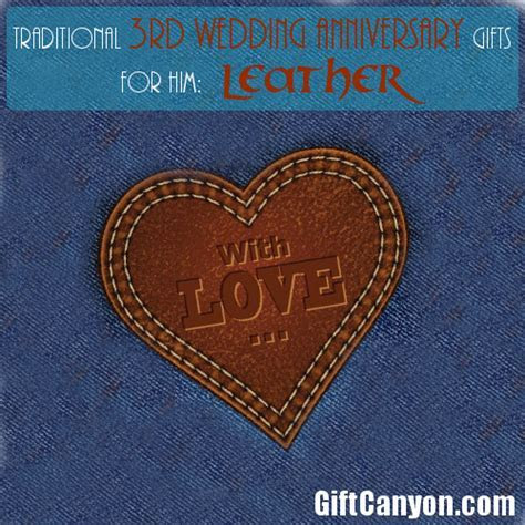 Traditional 3rd Wedding Anniversary Gifts for Him: Leather