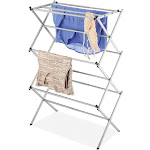 Whitmor 27.5 in. x 41.5 in. Expandable Drying Rack, Grey