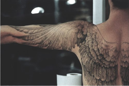 Attractive Bird Eagle Wings Tattoo Design On Back For Men Tattoomagz