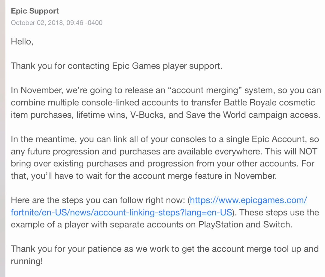 Fortnite Accounts Can Be Merged In November N64josh Nintendo - november is the day that you will be able to merge your accounts on fortnite leprecan from my discord sent an email to epic asking about merging accounts