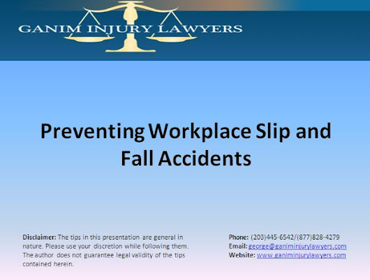 Preventing Workplace Slip and Fall Accidents