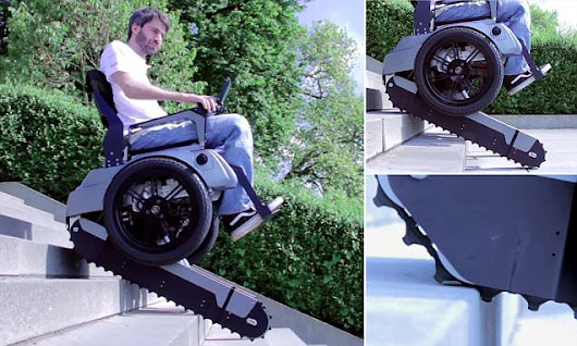 Access all areas: Stair-climbing wheelchair built by Swiss engineers