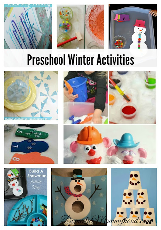 10 Preschool Winter Activities for Those Long Winter Months - Domestic Mommyhood