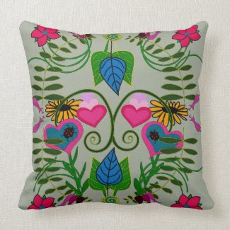 Spring Plantings Theme on Pillow