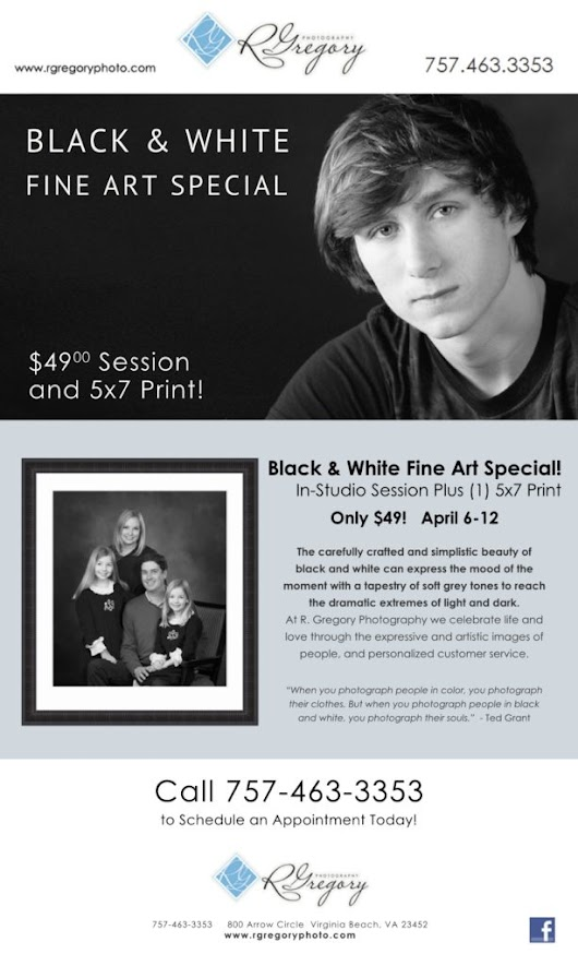 April Black & White Photography Fine Art Special