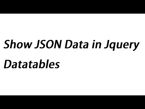 Show JSON Data in Jquery Datatables | Webslesson
