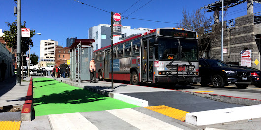 Boarding Islands: A Solution for Bikes and Buses | San Francisco Bicycle Coalition