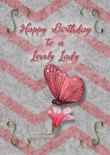 Birthday For A Lovely Lady. Free Birthday for Her eCards