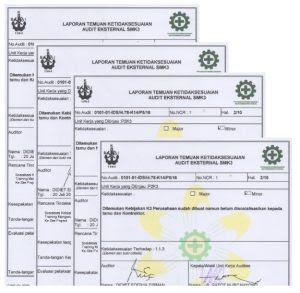 Laporan Audit Sertifikasi Smk3 Sistem Manajemen K3 Sertifikat Iso