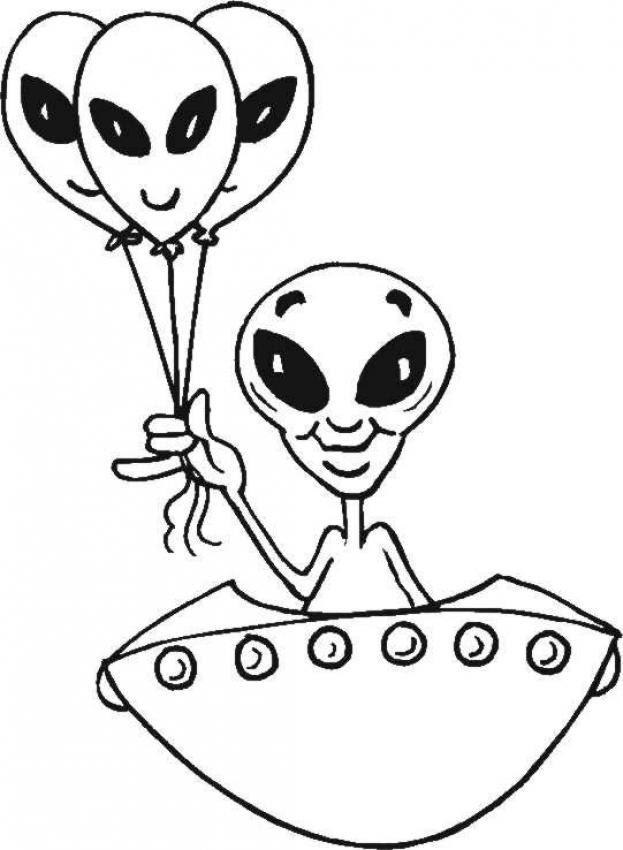 Coloriages Lantenne Extraterrestre Frhellokidscom