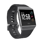 Fitbit Ionic - Smart Watch with Heart Rate Monitor - Charcoal/Smoke Gray