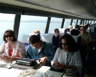 Charles, Theresa, Angela and the rest of the WayFun gang on the ferry