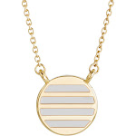 Circle Necklace - Gold and Enamel Necklace - Gifts for Mom - Bridesmaid Gifts - Anniversary Gift for Her - Mother's Day Gifts for Her