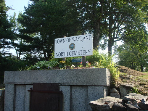 North Cemetery Sign by midgefrazel