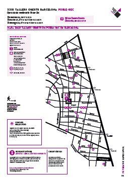 mapa talleres artistas del poble sec 2016