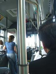 Bus ride in Quebec City, Canada