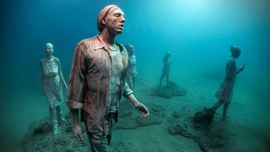 Haunting images beneath the sea