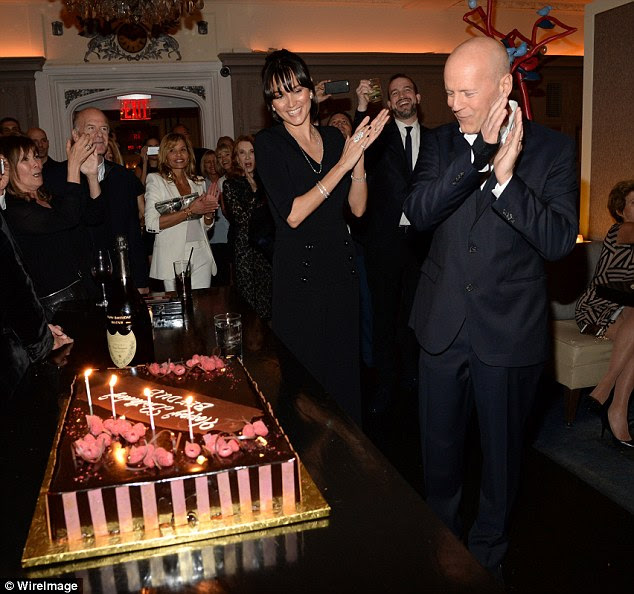 Milestone: Bruce Willis celebrated his 60th birthday with a bash at Harlow in New York City on Saturday night
