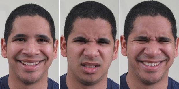 Pesquisadores mapearam expressões faciais que representam 21 emoções distintas (Foto: Ohio State University/Divulgação)