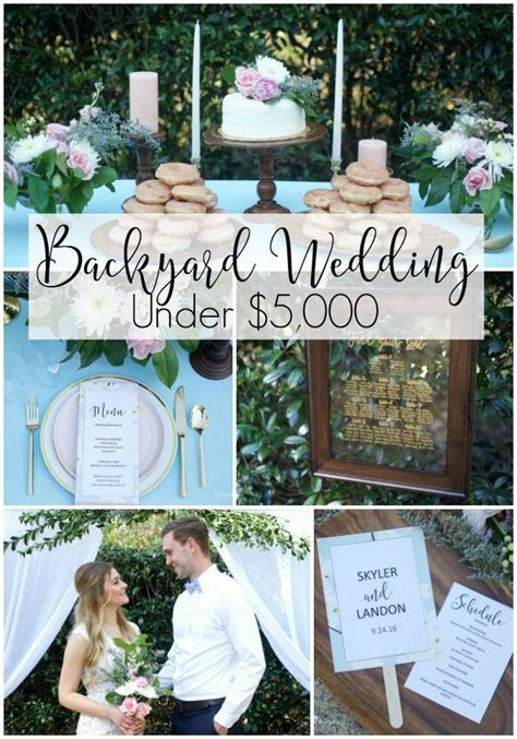 How to Plan a Wedding Under $5,000   Wedding Receptions