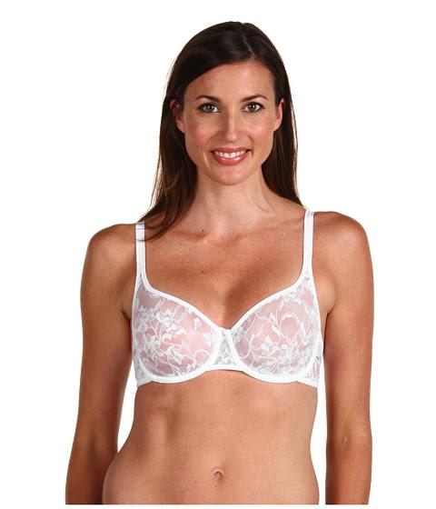 Cheap Dkny Intimates Signature Lace Unlined Demi Bra 451000 White