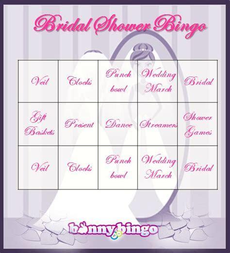 Bridal Shower Bingo Cards   not online bingo   Bingo