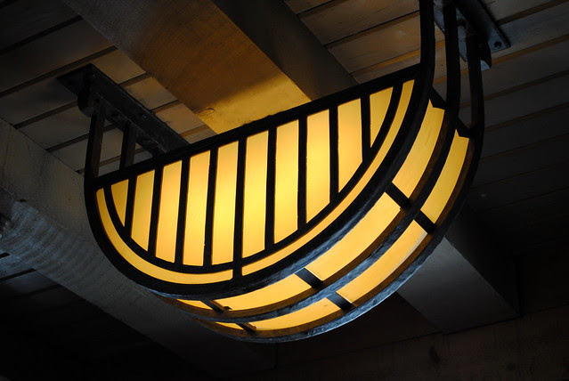 Light fixture inside Timberline Lodge
