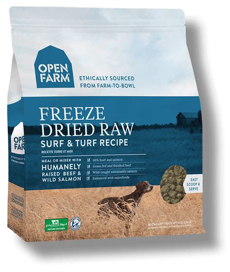 open farm surf turf raw dog food oz  biopaw