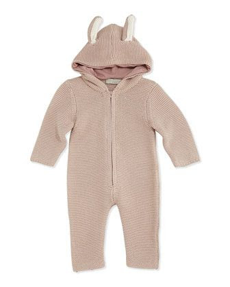 Hooded Knit Playsuit with Ears, Pink, 3-24 Months by Stella McCartney at Neiman Marcus.