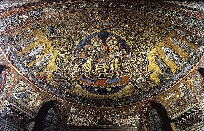 File:Jacopo torriti, coronation of the virgin, santa maria maggiore, rome.jpg