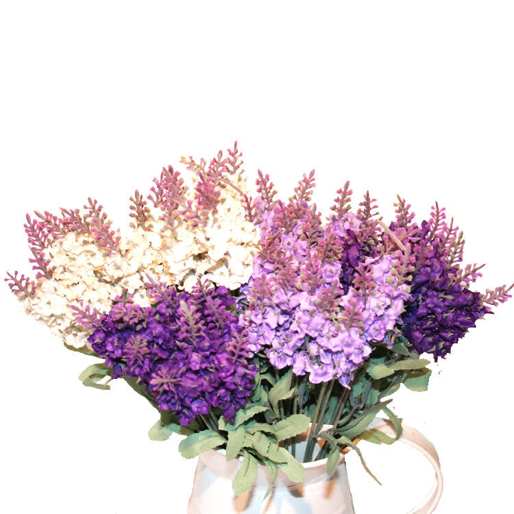 Artificial Lavender Silk Flower Bouquet  Home Wedding Floral Decoration  eBay