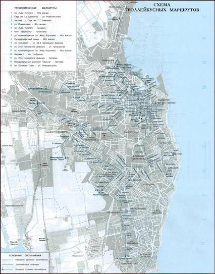 Карта-схема маршруты