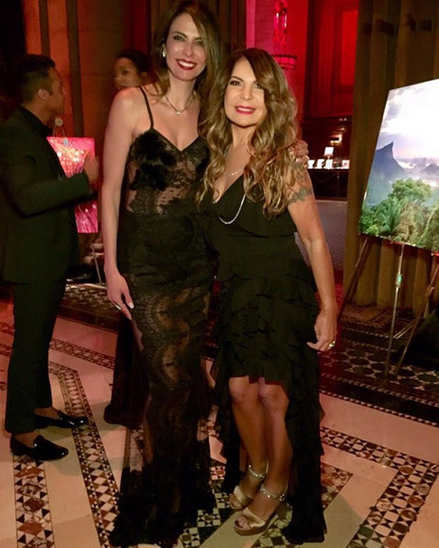 Luciana Gimenez e Elba ramalho em evento em Nova York, nos Estados Unidos (Foto: Instagram/ Reprodução)