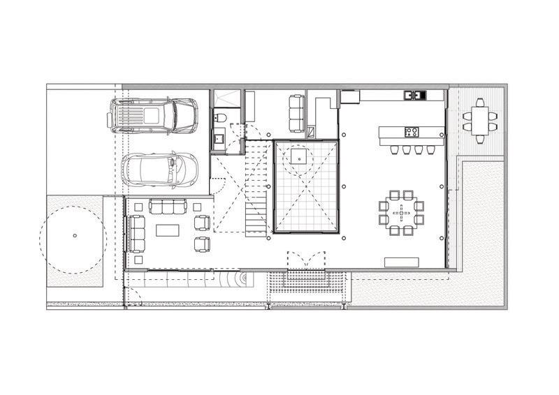 Casa con impluvium atelier de arquitecturas tecno haus - Casas de planta baja disenos ...