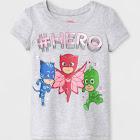 petiteToddler Girls' PJ Masks Short Sleeve T-Shirt - Gray 3T, Girl's