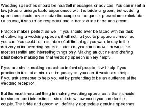 All kind of Best Wedding Speeches : Free Wedding Speeches