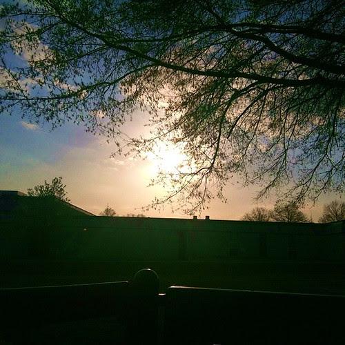 #sunset over the baseball field...