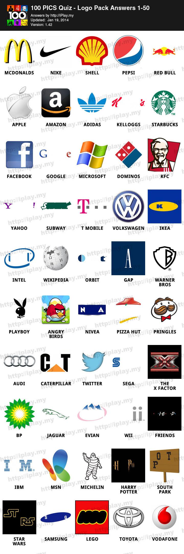 100 Pics Logos Answers 51 100 : logos, answers, Logos, Level