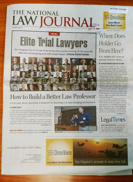 "Gonzaga Law on Twitter: ""Congratulations to Professor Gerry Hess, who was featured on the front page by @TheNLJ . #GUSuccess """