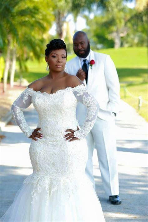 Vestidos 2017 Africa Plus Size Wedding Dresses Mermaid