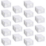 Sterilite Stackable Small Drawer, White - 18 pack