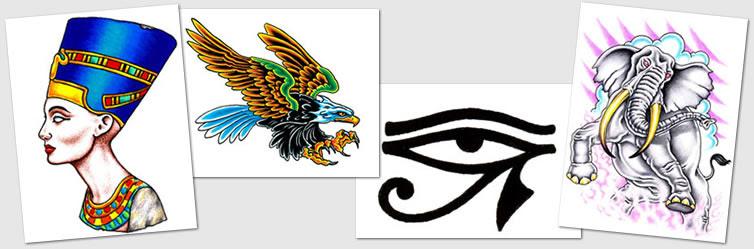 Tattoo Designs Symbols Eagle Egyptian Eye Of Horus Elephant
