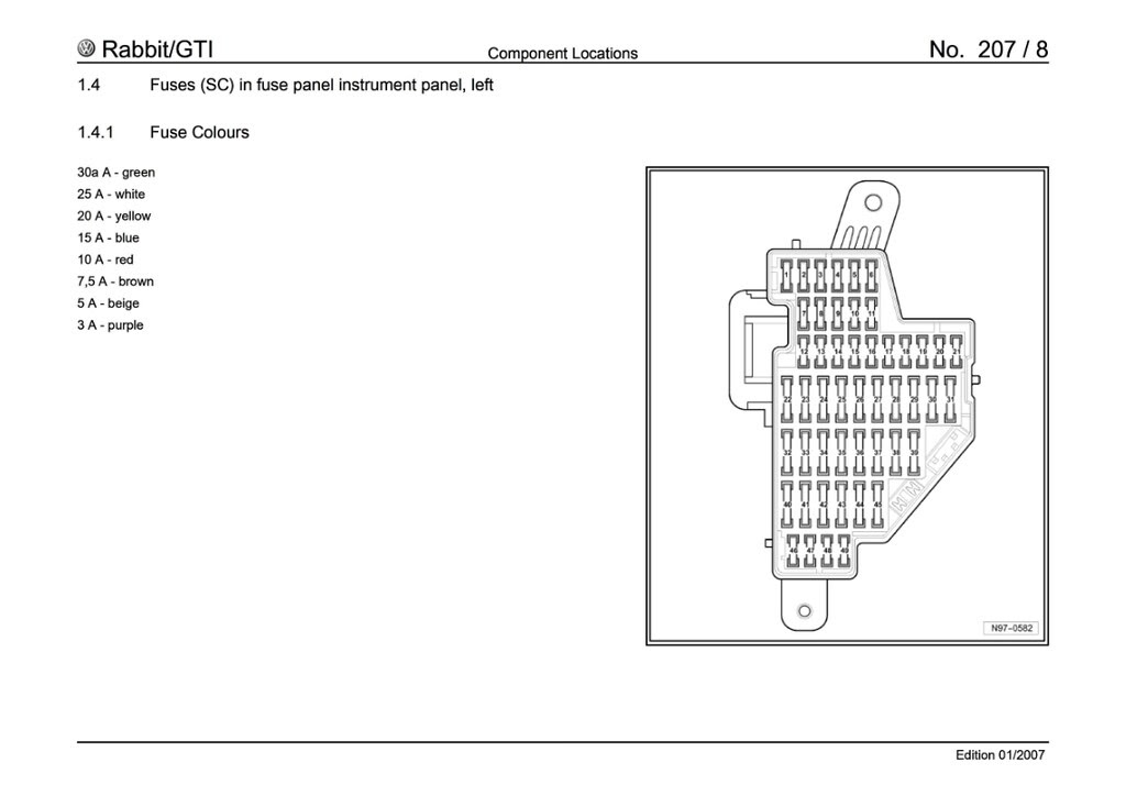 Wiring Diagram Database  2011 Vw Jetta 25 Se Fuse Box Diagram