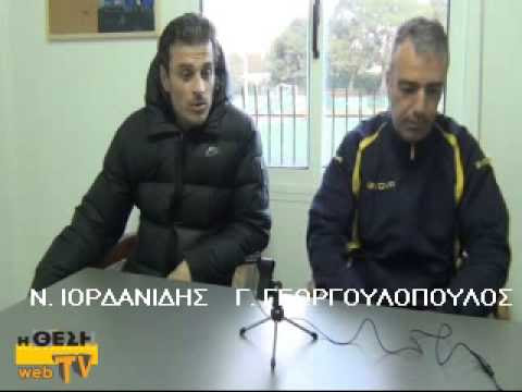 Δεξιά ο Γιώργος Γεωργουλόπουλος, βοηθός του Σάββα Παντελίδη