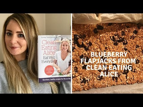 Blueberry Flapjacks from Clean Eating Alice