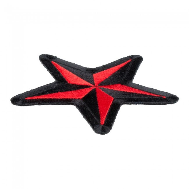 Nautical Star Red Black Patch Star Patches