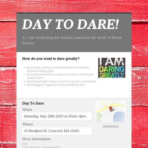 DAY TO DARE!