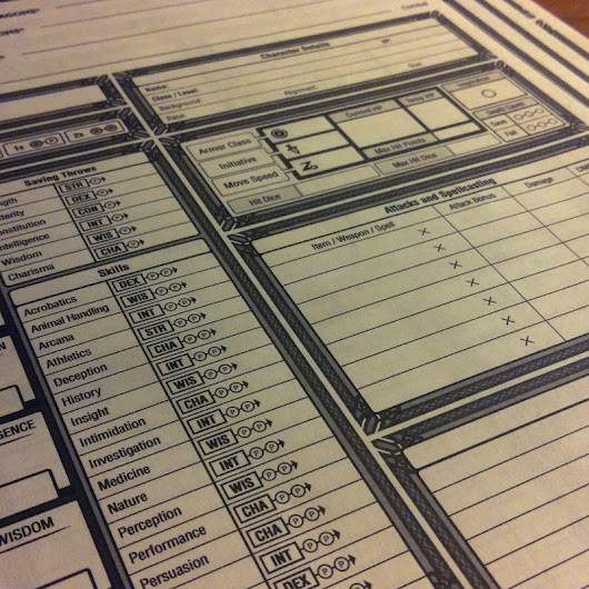 Character Sheet for D&D 5th Edition, William Lu