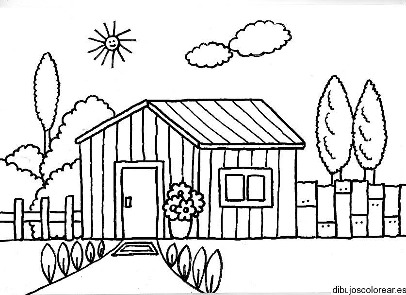 Dibujo De Una Casa De Madera